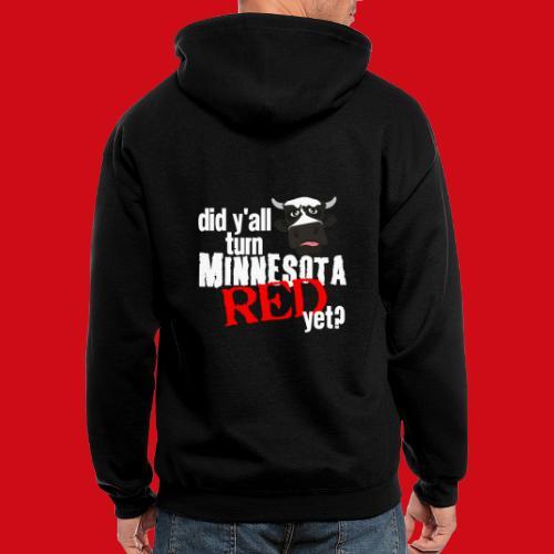 Turn Minnesota Red - Men's Zip Hoodie