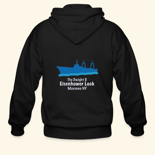 Eisenhower Lock Blue - Men's Zip Hoodie