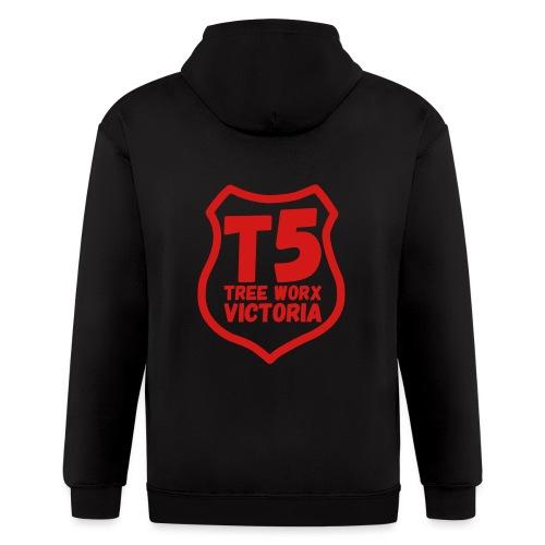 T5 tree worx shield - Men's Zip Hoodie