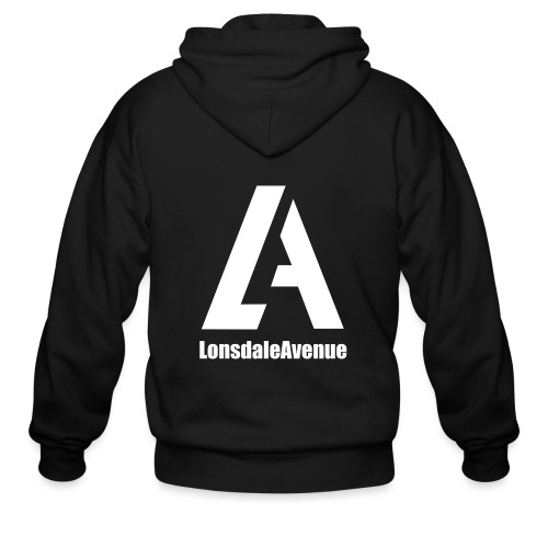 Lonsdale Avenue Logo White Text - Men's Zip Hoodie