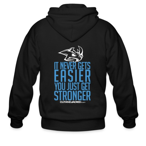 you just get strongerwht Gym Motivation - Men's Zip Hoodie