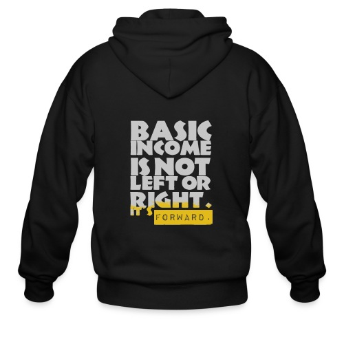 UBI is not Left or Right - Men's Zip Hoodie