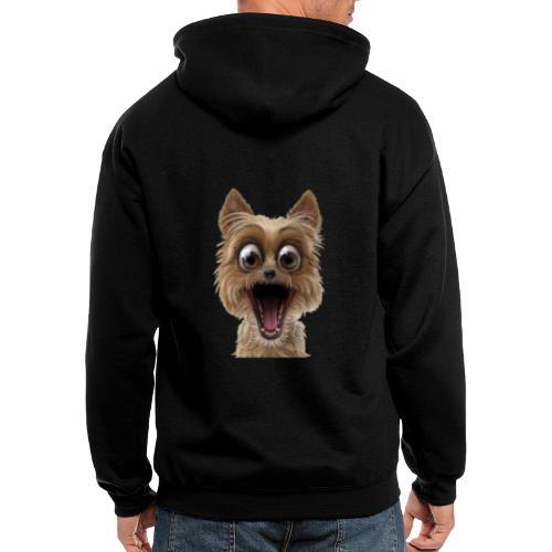 Dog puppy pet surprise pet - Men's Zip Hoodie