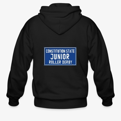 Constitution State Junior Roller Derby - Men's Zip Hoodie