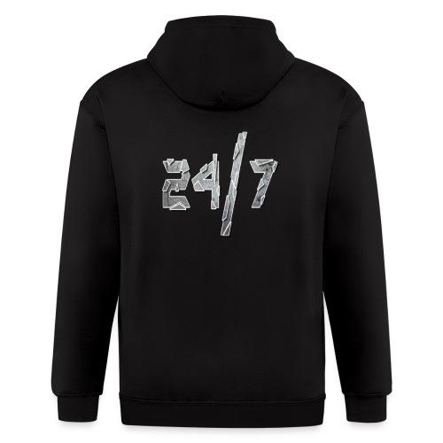 24/7 with ABG - Men's Zip Hoodie