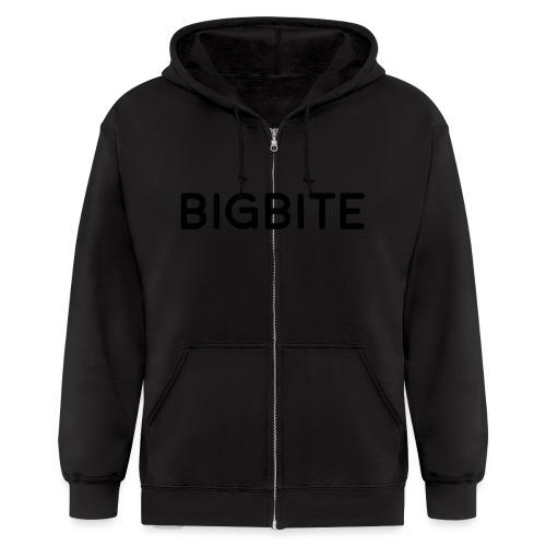 BIGBITE logo red (USE) - Men's Zip Hoodie