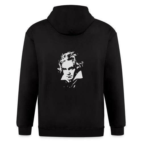 Ludvig Van Beethoven negative for dark shirts - Men's Zip Hoodie