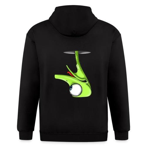 Funny Green Ostrich - Men's Zip Hoodie