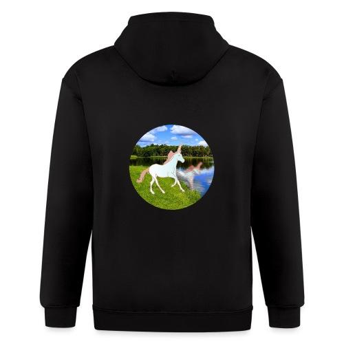 unicorn in reflection - Men's Zip Hoodie