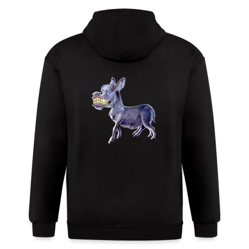 Funny Keep Smiling Donkey - Men's Zip Hoodie