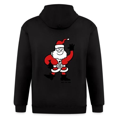 Santa Claus Greetings - Men's Zip Hoodie