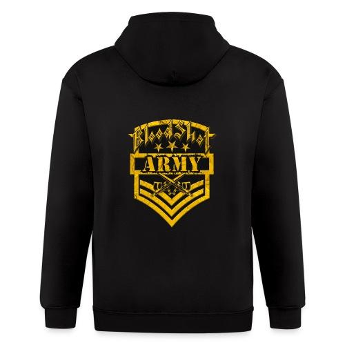 BloodShot ARMYLogo Gold /Black - Men's Zip Hoodie