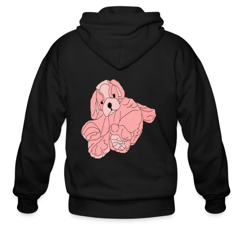 Soft Pink Puppy - Men's Zip Hoodie