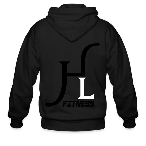HIIT Life Fitness logo white - Men's Zip Hoodie