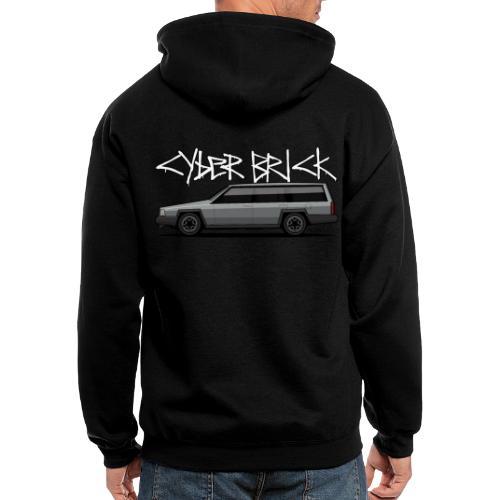 Cyberbrick Future Electric Wagon Graffiti - Men's Zip Hoodie