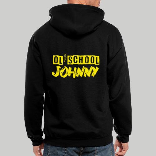 Ol' School Johnny Logo in Yellow - Men's Zip Hoodie