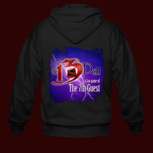 The 13th Doll Logo With Lightning - Men's Zip Hoodie