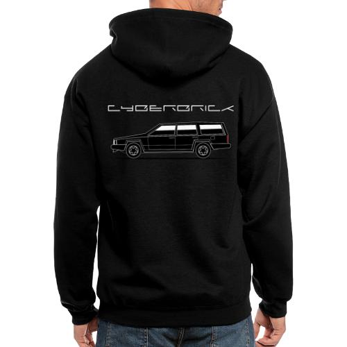 Cyberbrick Future Electric Wagon Black Outlines - Men's Zip Hoodie