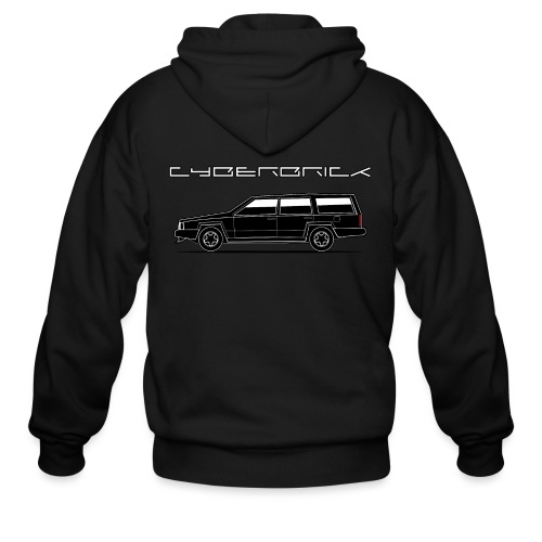Cyberbrick Future Electric Wagon Black Outlines - Men's Zip Hoodie