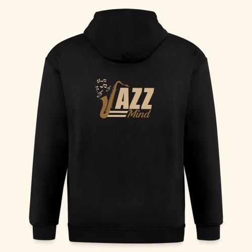 02 JAZZ MIND - Men's Zip Hoodie