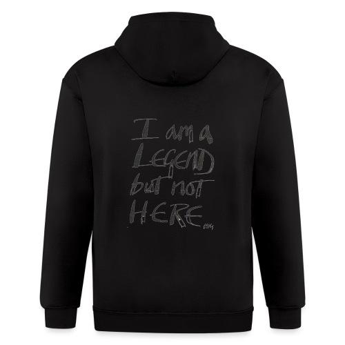 I am a Legend - Men's Zip Hoodie