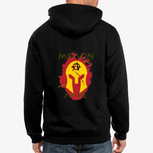 Molon Labe - Anarchist's Edition - Men's Zip Hoodie
