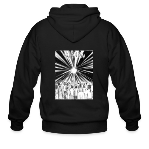 Black_and_White_Vision - Men's Zip Hoodie