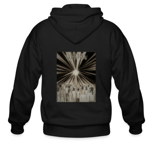 Black_and_White_Vision2 - Men's Zip Hoodie