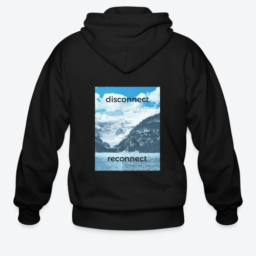 Disconnect Reconnect - Men's Zip Hoodie