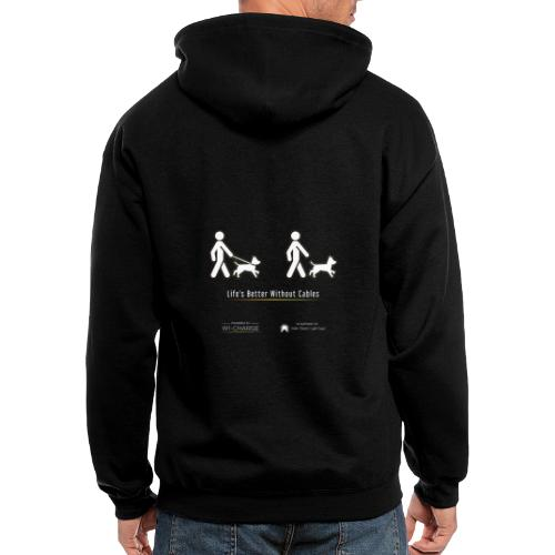 Life's better without cables : Dogs - SELF - Men's Zip Hoodie