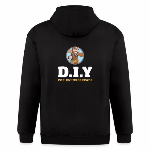DIY For Knuckleheads Logo. - Men's Zip Hoodie