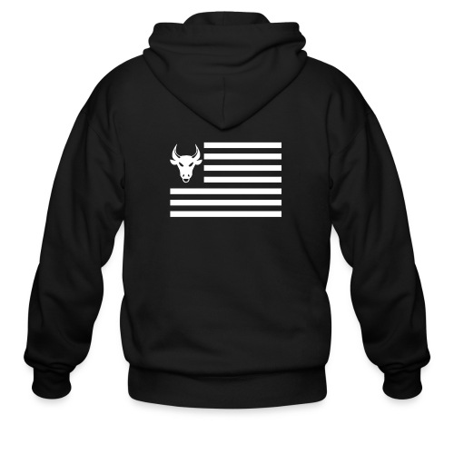 PivotBoss Flag White - Men's Zip Hoodie