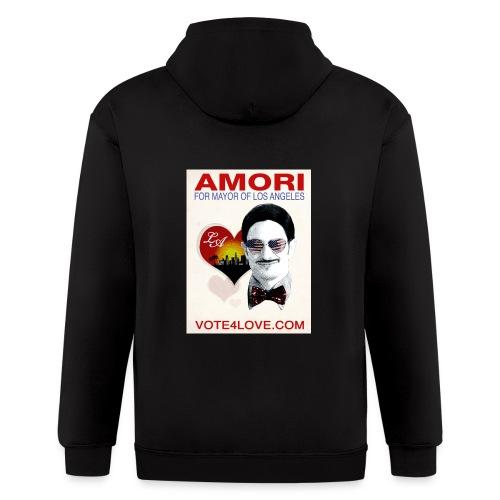 Amori for Mayor of Los Angeles eco friendly shirt - Men's Zip Hoodie