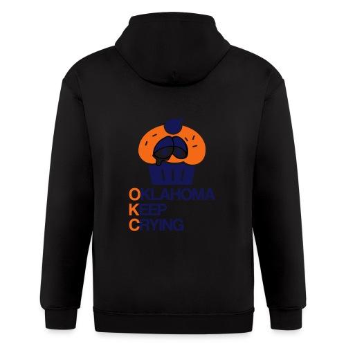 OKC Cupcake Crying - Men's Zip Hoodie