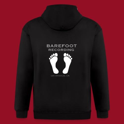 Barefoot Recording Simple Logo - Men's Zip Hoodie