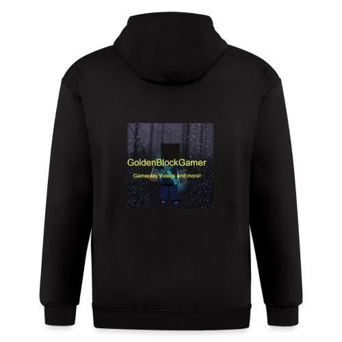 GoldenBlockGamer Tshirt - Men's Zip Hoodie