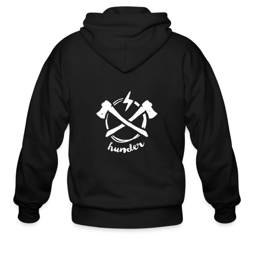 woodchipper back - Men's Zip Hoodie