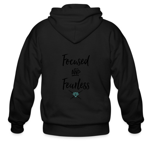 focused fearless (black) - Men's Zip Hoodie