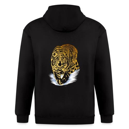 Golden Snow Tiger - Men's Zip Hoodie