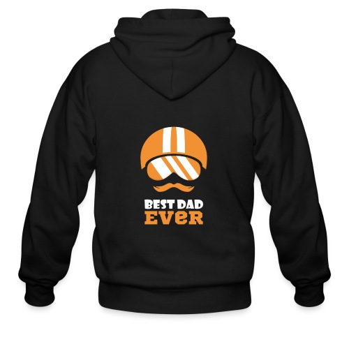 Best Motorcycle Dad Ever, Best Dad Ever - Men's Zip Hoodie