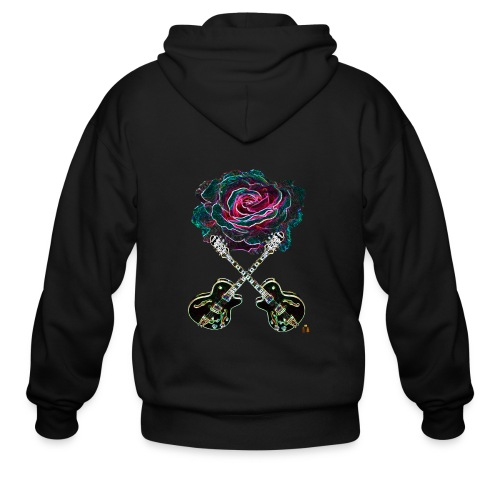 Black Rose - Men's Zip Hoodie