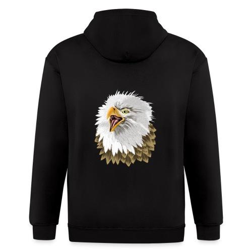 Big, Bold Eagle - Men's Zip Hoodie