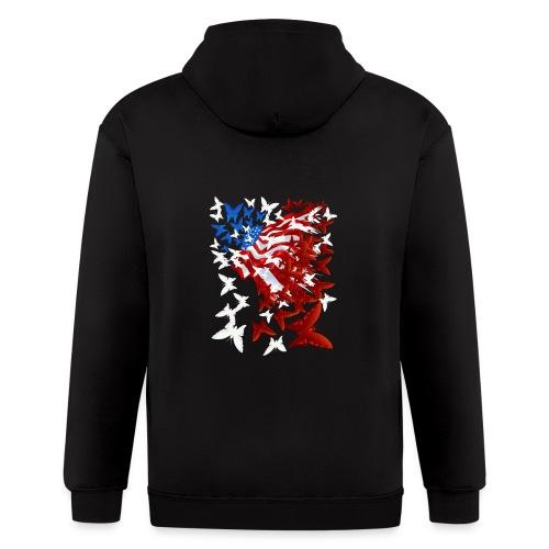 The Butterfly Flag - Men's Zip Hoodie
