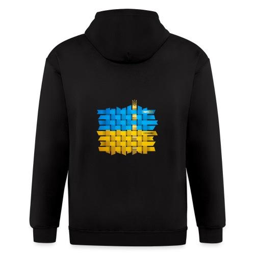 Weave Ukrainian flag - Men's Zip Hoodie
