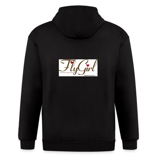FlyGirlTextGray jpg - Men's Zip Hoodie