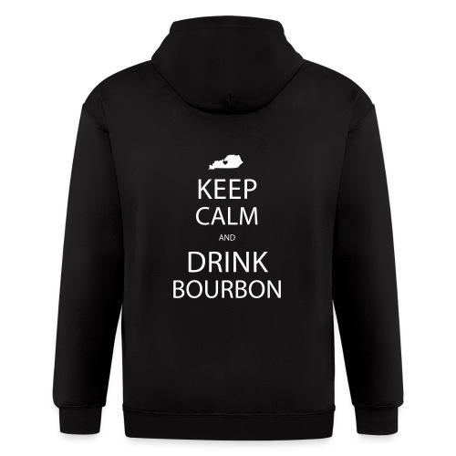 Keep Calm and Drink Bourbon - Men's Zip Hoodie