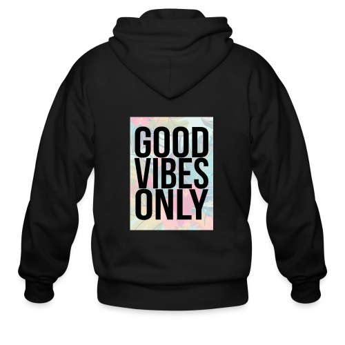 good vibes only tropical - Men's Zip Hoodie
