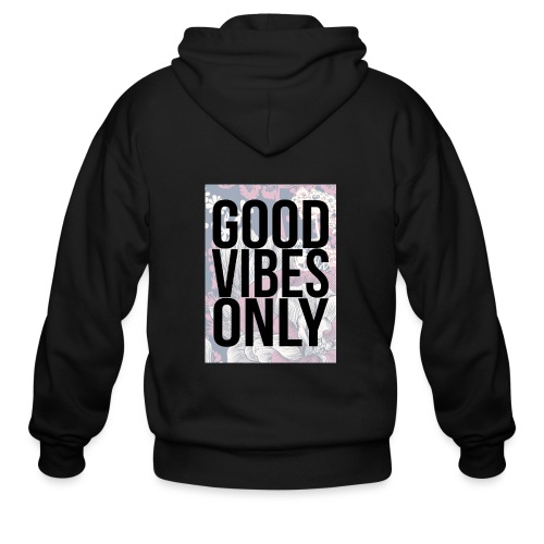 good vibes only oriental - Men's Zip Hoodie