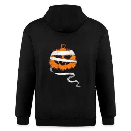 Halloween Bandaged Pumpkin - Men's Zip Hoodie