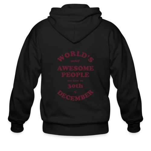 Most Awesome People are born on 30th of December - Men's Zip Hoodie